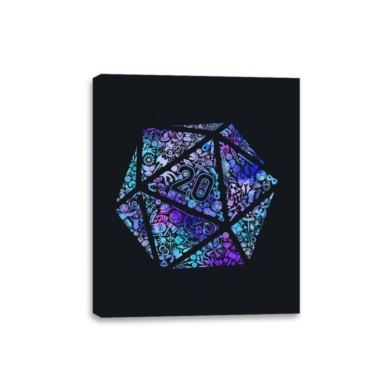 Mosaic D20 - Canvas Wraps - Canvas Wraps - RIPT Apparel