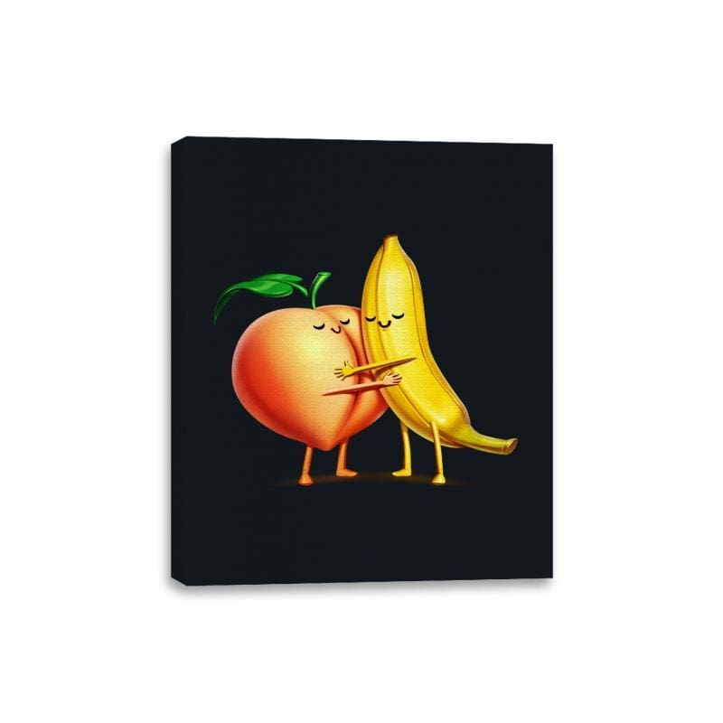 Peach and Banana Cute Friends - Canvas Wraps - Canvas Wraps - RIPT Apparel