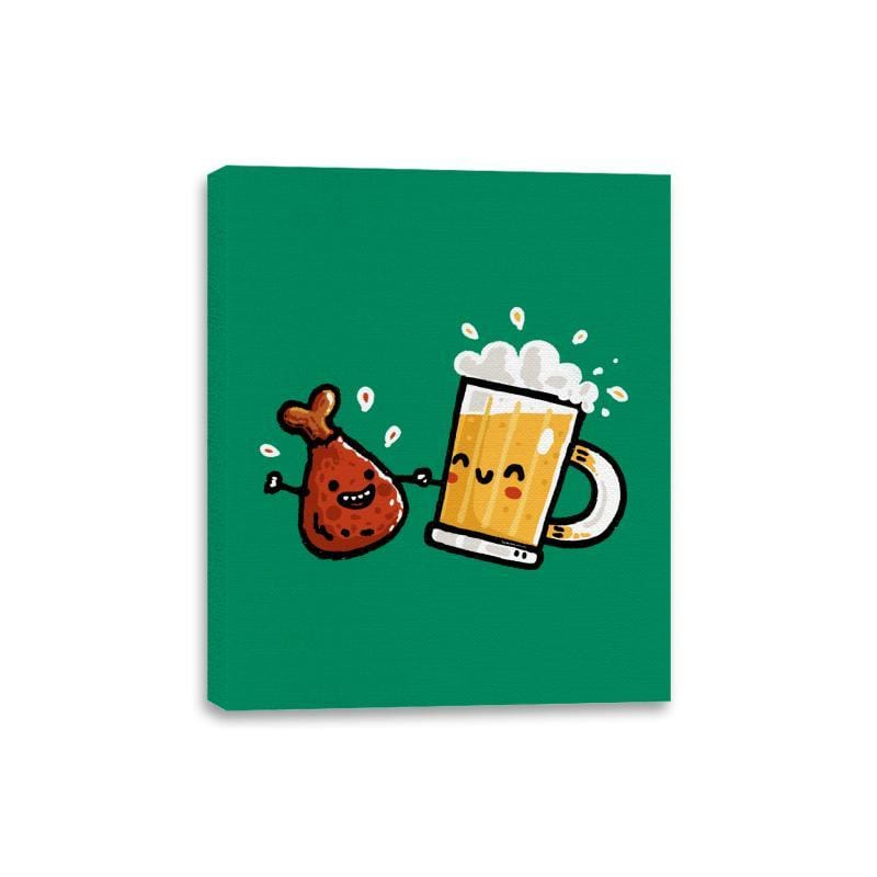 Wings and Beer - Canvas Wraps - Canvas Wraps - RIPT Apparel