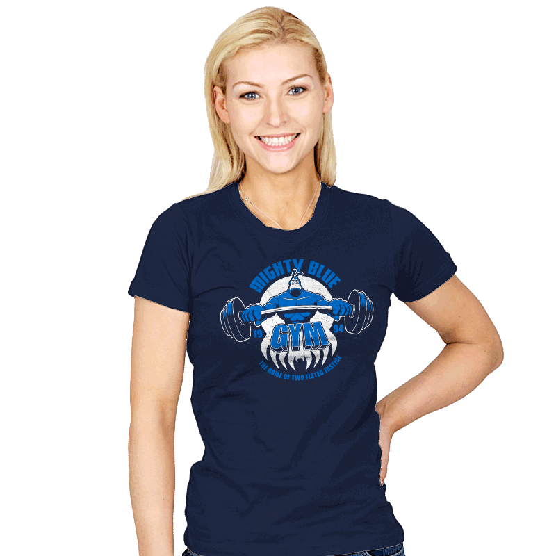 Mighty Blue Gym - Womens - T-Shirts - RIPT Apparel