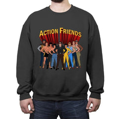 Action Friends - Crew Neck Sweatshirt - Crew Neck Sweatshirt - RIPT Apparel