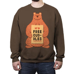 Free Cuddles - Crew Neck Sweatshirt - Crew Neck Sweatshirt - RIPT Apparel
