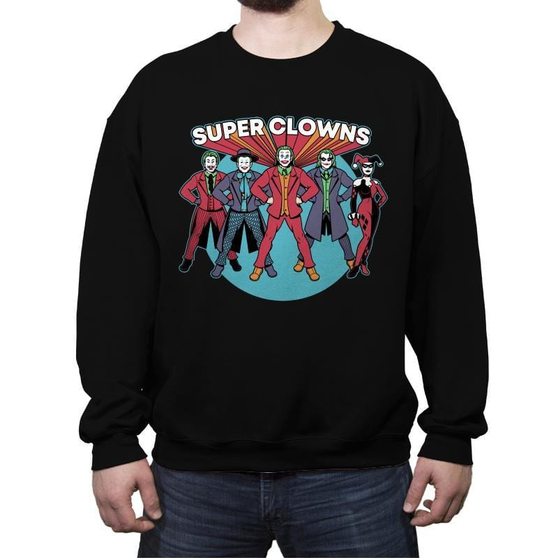 Super Clowns - Crew Neck Sweatshirt - Crew Neck Sweatshirt - RIPT Apparel