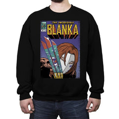 The Incredible Blanka! - Crew Neck Sweatshirt - Crew Neck Sweatshirt - RIPT Apparel