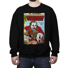 The Invincible Comedian - Crew Neck Sweatshirt - Crew Neck Sweatshirt - RIPT Apparel