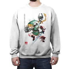 Twilight Princess Watercolor - Crew Neck Sweatshirt - Crew Neck Sweatshirt - RIPT Apparel