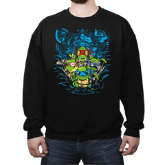 Poke Turtles - Crew Neck - Crew Neck - RIPT Apparel