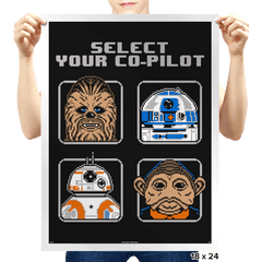Select Your Co-Pilot - Prints - Posters - RIPT Apparel