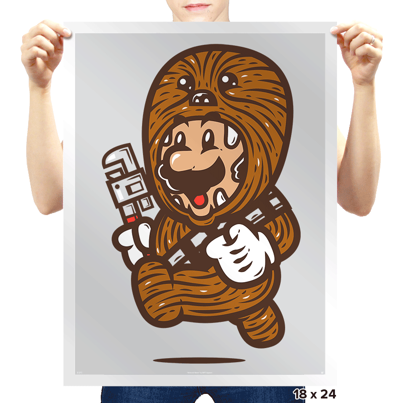 Wookie Plumber - Prints - Posters - RIPT Apparel
