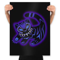 The Glowing Panther King - Best Seller - Prints - Posters - RIPT Apparel