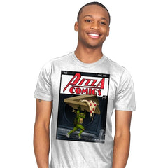 Pizza Comics - Featuring Michelangelo - Mens - T-Shirts - RIPT Apparel