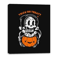 Death's Trick or Treat - Anytime - Canvas Wraps - Canvas Wraps - RIPT Apparel
