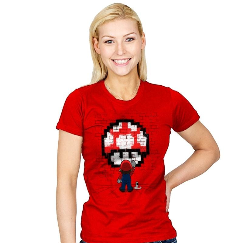 Mushroom Graffiti - Womens - T-Shirts - RIPT Apparel