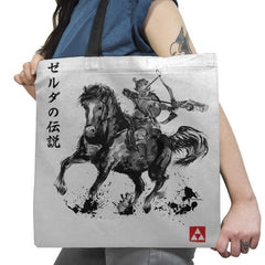 Wild Hunter Sumi-e - Sumi Ink Wars - Tote Bag - Tote Bag - RIPT Apparel