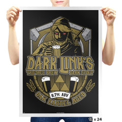 Dark Triforce Brew - Prints - Posters - RIPT Apparel