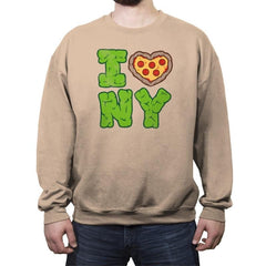 I PIZZA NY - Crew Neck Sweatshirt - Crew Neck Sweatshirt - RIPT Apparel