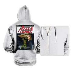 Pizza Comics - Featuring Michelangelo - Hoodies - Hoodies - RIPT Apparel