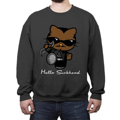 Hello Suckhead - Crew Neck Sweatshirt - Crew Neck Sweatshirt - RIPT Apparel