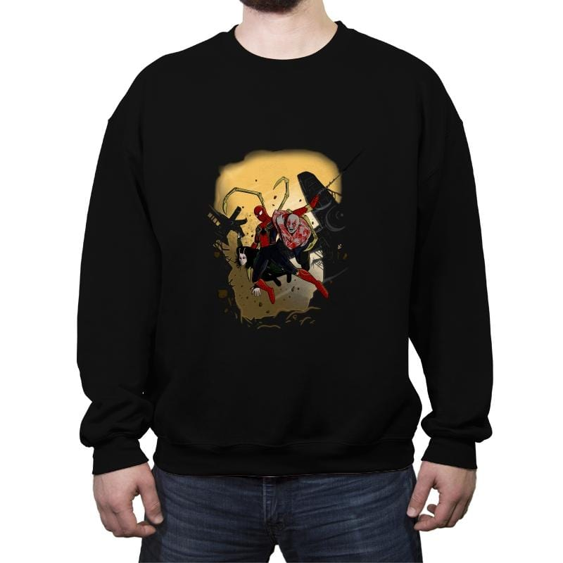 The Infinity Spider - Crew Neck Sweatshirt - Crew Neck Sweatshirt - RIPT Apparel