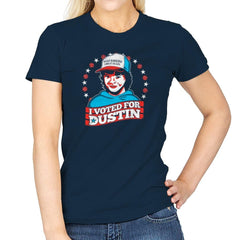 I Voted for Dustin Exclusive - Womens - T-Shirts - RIPT Apparel