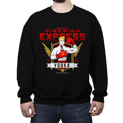 Siberian Express Vodka - Crew Neck Sweatshirt - Crew Neck Sweatshirt - RIPT Apparel