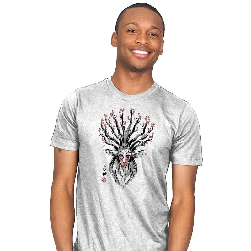 The Deer God Sumi-E - Sumi Ink Wars - Mens - T-Shirts - RIPT Apparel