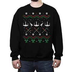 Rogue Christmas - Ugly Holiday - Crew Neck Sweatshirt - Crew Neck Sweatshirt - RIPT Apparel