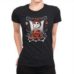 Nightmare In Pumpkin Land - Miniature Mayhem - Womens Premium - T-Shirts - RIPT Apparel