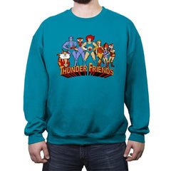 Thunder Friends - Crew Neck Sweatshirt - Crew Neck Sweatshirt - RIPT Apparel