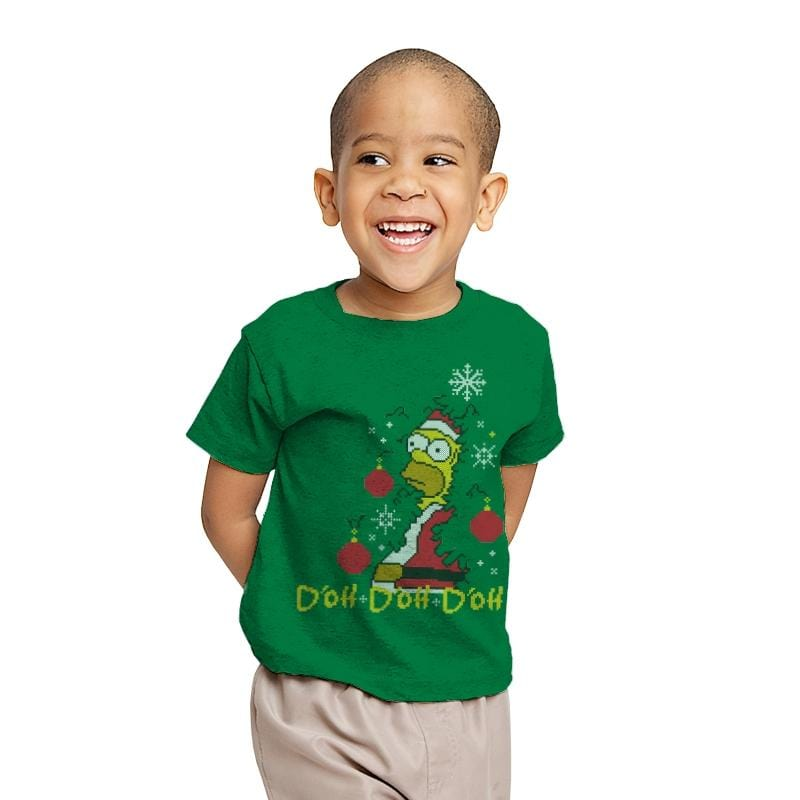 D'oh D'oh D'oh Santa Edition - Youth - T-Shirts - RIPT Apparel