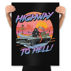 Highway to Hell - Prints - Posters - RIPT Apparel