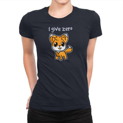 Zero Fox Given - Womens Premium - T-Shirts - RIPT Apparel