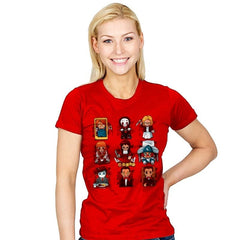 Horror Dolls - Womens - T-Shirts - RIPT Apparel