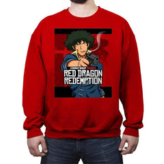 Red Dragon Redemption - Crew Neck Sweatshirt - Crew Neck Sweatshirt - RIPT Apparel