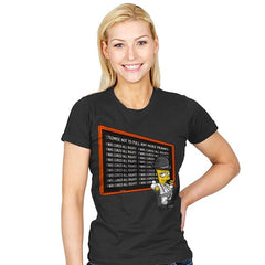 A Chalkboard Orange - Womens - T-Shirts - RIPT Apparel
