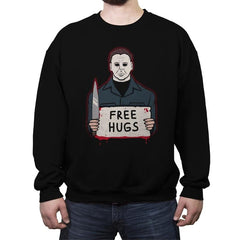 Free Hugs Yay - Crew Neck Sweatshirt - Crew Neck Sweatshirt - RIPT Apparel