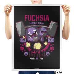 Fuchsia Gym - New Year's Evolutions - Prints - Posters - RIPT Apparel