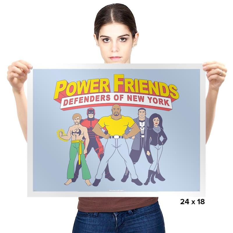 The Power Friends - Prints - Posters - RIPT Apparel
