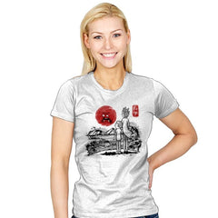 Screaming Red Sun - Womens - T-Shirts - RIPT Apparel
