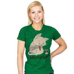 Monday Cat - Womens - T-Shirts - RIPT Apparel
