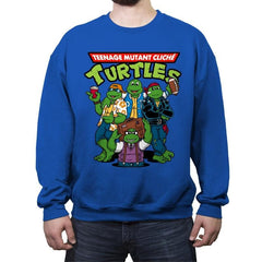 Cliché Turtles - Crew Neck Sweatshirt - Crew Neck Sweatshirt - RIPT Apparel