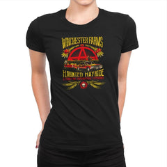 Winchester Farms Haunted Hay Ride Exclusive - Womens Premium - T-Shirts - RIPT Apparel