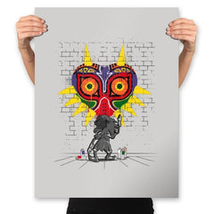 Graffiti Mask - Prints - Posters - RIPT Apparel