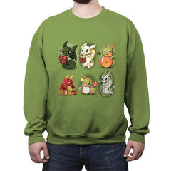 Nerd Dragons - Crew Neck Sweatshirt - Crew Neck Sweatshirt - RIPT Apparel