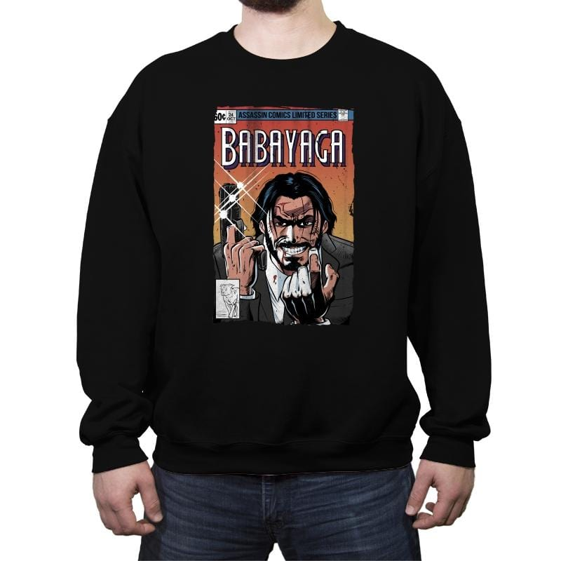 Baba Yaga - Crew Neck Sweatshirt - Crew Neck Sweatshirt - RIPT Apparel