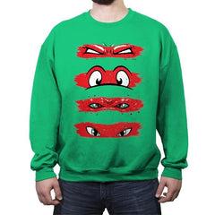 Turtles Through Time - Crew Neck Sweatshirt - Crew Neck Sweatshirt - RIPT Apparel