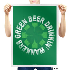 Green Beer Drinkin' Exclusive - St Paddys Day - Prints - Posters - RIPT Apparel