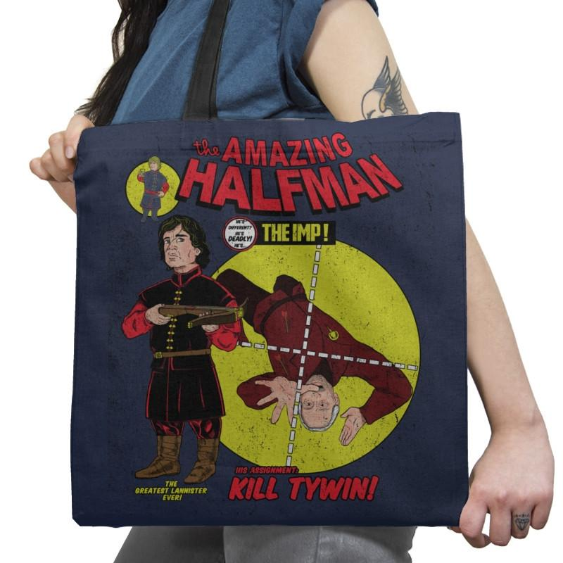 The Amazing Half-Man - Game of Shirts - Tote Bag - Tote Bag - RIPT Apparel