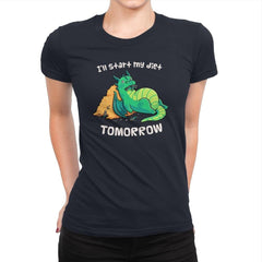 Tomorrow is a New Day - Womens Premium - T-Shirts - RIPT Apparel