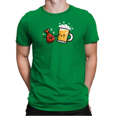 Wings and Beer - Mens Premium - T-Shirts - RIPT Apparel